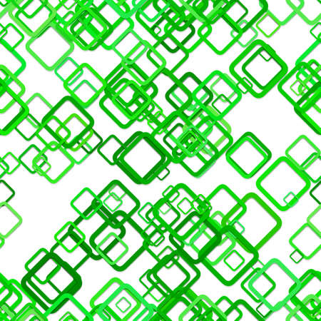 Green seamless abstract geometric square pattern background - vector illustration from diagonal rounded squares Ilustração