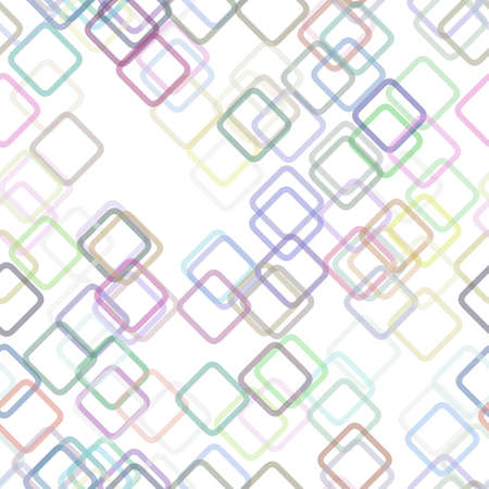 Multicolored seamless geometric square background pattern - vector graphic from random diagonal squares with opacity effect