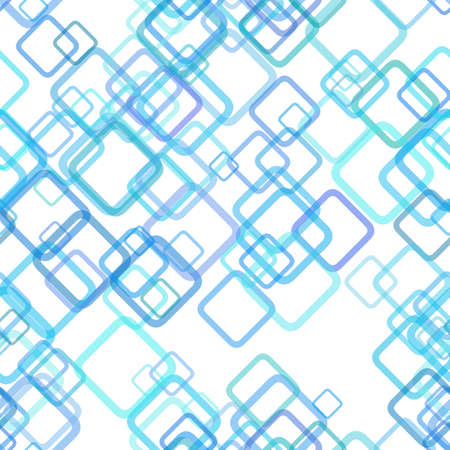 Repeating light blue geometric square background pattern - vector graphic design from random diagonal squares with opacity effect Illustration