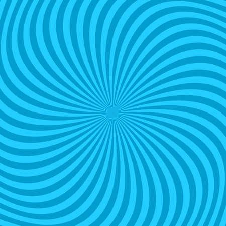 Light blue hypnotic spiral pattern background. 矢量图像