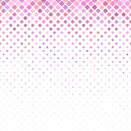 Geometric diagonal rounded square pattern - vector mosaic tile background graphic design Illustration