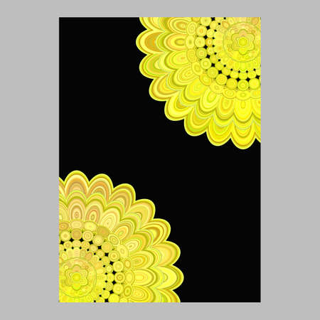 Abstract floral mandala brochure background - vector love concept illustration Illustration