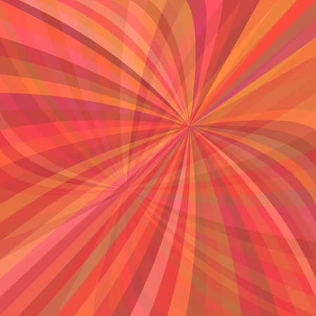 Red abstract curved ray burst background - vector illustration from curved rays