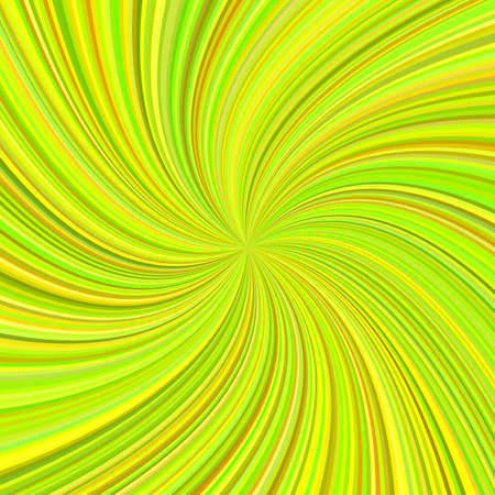 Lime color abstract swirl background from curved spiral ray stripes - vector graphic