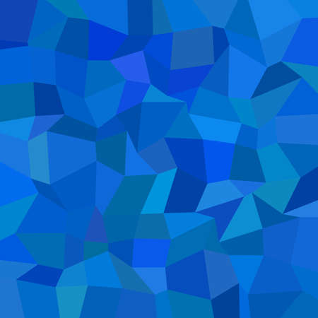 Abstract geometrical rectangle mosaic background - polygonal vector graphic design from rectangles in blue tones Çizim