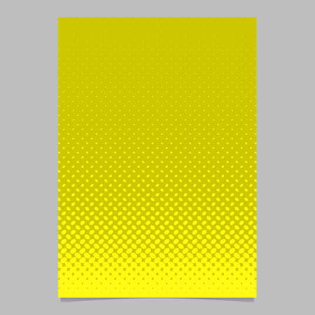 Yellow halftone ellipse pattern page template design  on vector brochure background illustration with diagonal elliptical dots