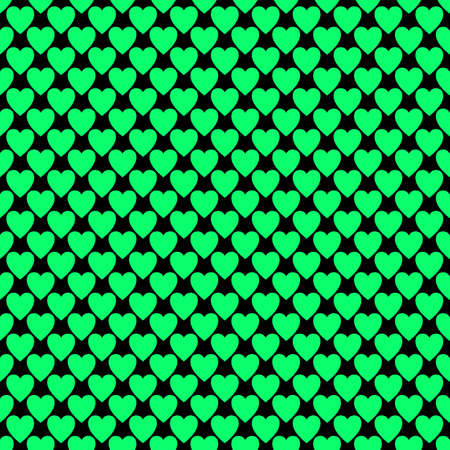 Repeating heart background pattern  on vector Valentines day graphic design Illustration