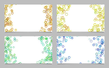 Random circle background business card template design set - vector graphics