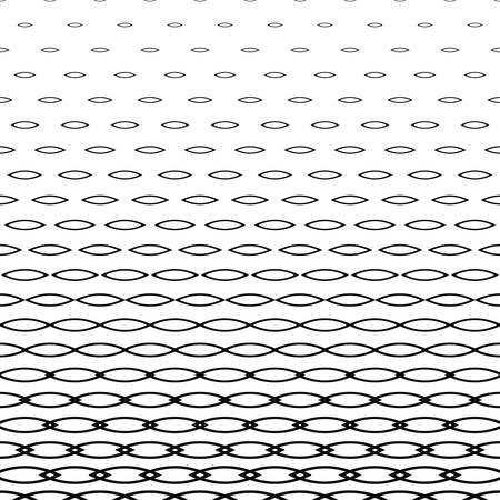 Abstract monochrome horizontal curved shape pattern background design