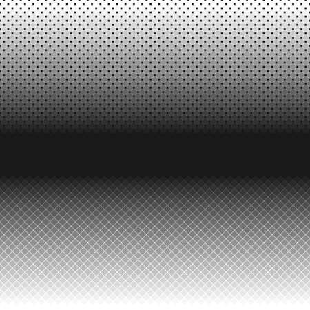 Retro halftone pattern background template - abstract vector graphic from squares and circles