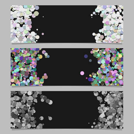 Abstract banner template background set with colored dots Illustration