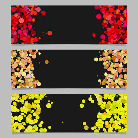 Abstract banner template background set with colored circles