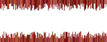 Color banner background design - horizontal vector graphic from vertical rounded stripes on white background Ilustração