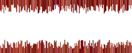 Color banner background design - horizontal vector graphic from vertical rounded stripes on white background Vectores