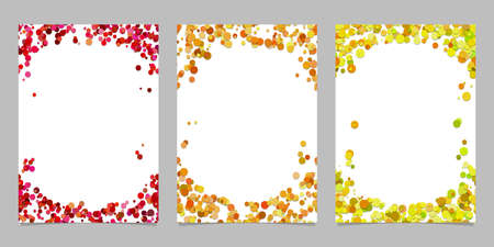Abstract colored brochure template background set with dots - vector graphic designs 向量圖像