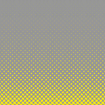 Geometrical halftone ellipse pattern background - vector graphic from yellow diagonal elliptical dots on grey background Illustration