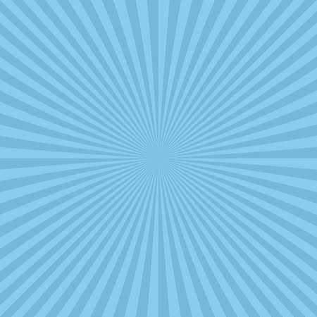 Light blue abstract ray burst background from radial stripes - vector design Illustration