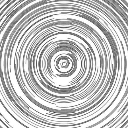 Grey abstract circular background - vector graphic design from half circles