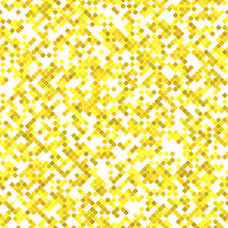 Yellow seamless diagonal square pattern background design - vector graphic