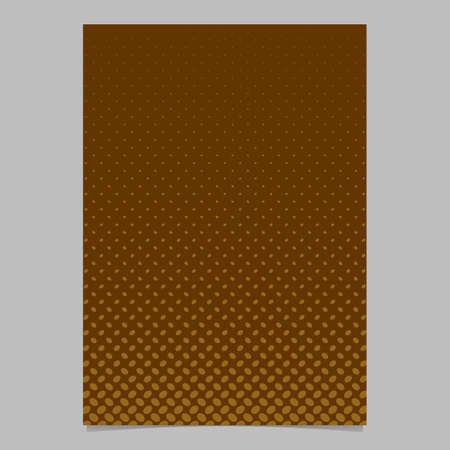 Abstract halftone ellipse pattern brochure template - vector poster background graphic design with diagonal elliptical dots Illustration