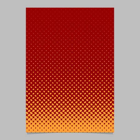 Color halftone ellipse pattern page template design - vector brochure background illustration with diagonal elliptical dots
