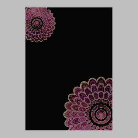 Abstract floral mandala page background - vector love concept graphic design Ilustração