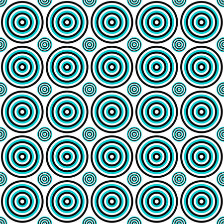 Abstract geometrical seamless circle pattern background - vector graphic