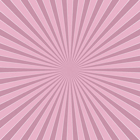 Pink abstract dynamic sun rays background - retro vector design from radial stripe pattern Vectores