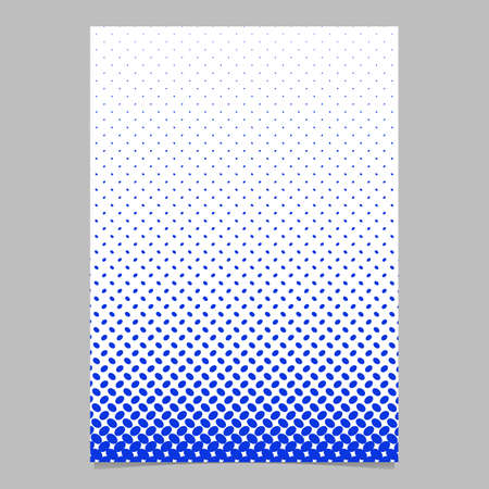 Abstract halftone ellipse pattern cover background template - vector stationery graphic from diagonal elliptical dots Illustration