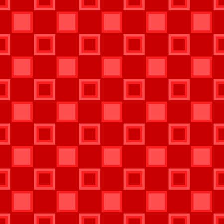 Red abstract geometrical square pattern background - vector illustration
