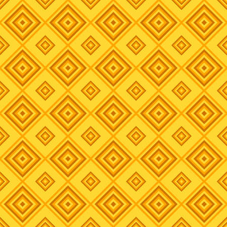 Abstract seamless square pattern background design - orange color vector graphic
