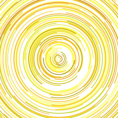 Round abstract background - vector graphic design from concentric curved lines