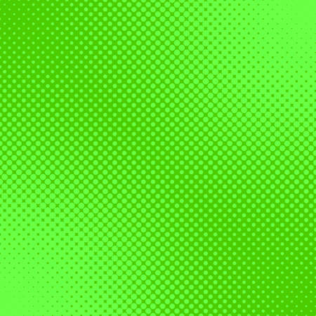 Green retro halftone dot pattern background - abstract vector graphic from circles in varying sizes