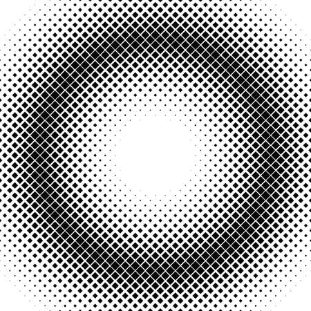 Abstract geometric halftone square pattern background - vector graphic from diagonal squares