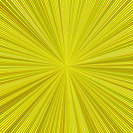Yellow hypnotic abstract star burst stripe background - vector blast graphic Illustration