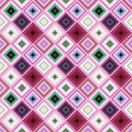Colorful abstract repeating diagonal square pattern - vector tiled mosaic background design
