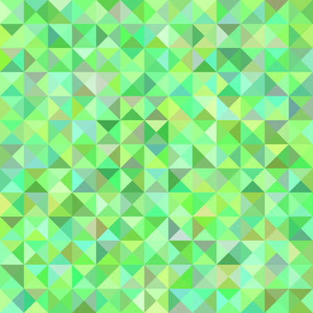 Green abstract triangle pyramid pattern background - mosaic vector illustration from triangles in colorful tones