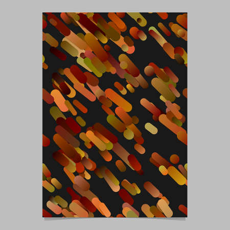 Brown modern abstract gradient diagonal stripe pattern brochure background template - vector stationery design