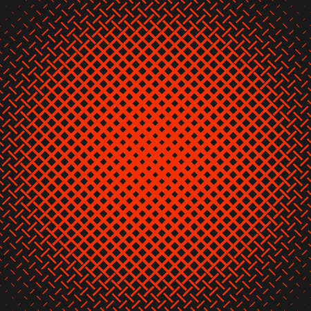 Red geometrical abstract halftone stripe pattern background - vector graphic design from lines