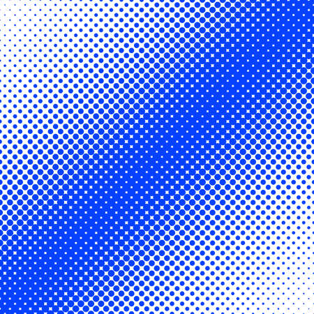 Geometrical halftone dot pattern background - vector design from circles