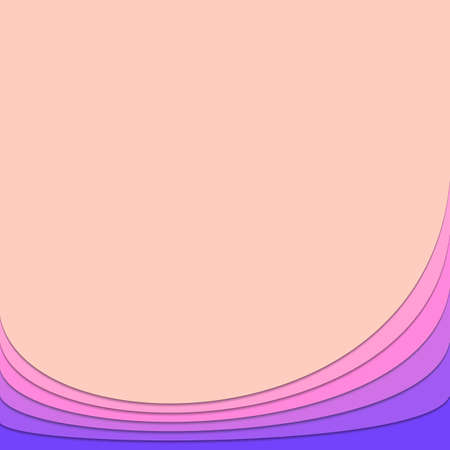 Background template from pink and purple curved stripes - vector stationery graphic with shadow effect