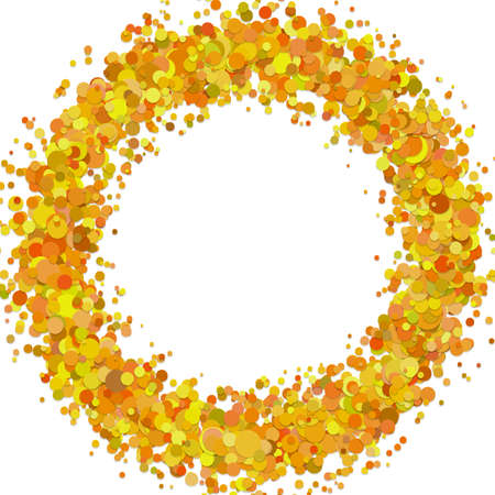 Abstract blank confetti ring background template with sprinkled circles - vector illustration  イラスト・ベクター素材