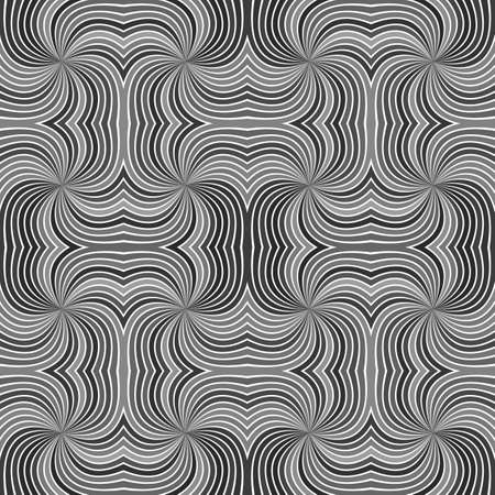 Grey seamless hypnotic abstract spiral ray stripe pattern background - vector graphic Stock Photo