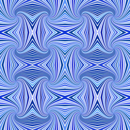 Blue seamless hypnotic abstract spiral burst stripe pattern background - vector design