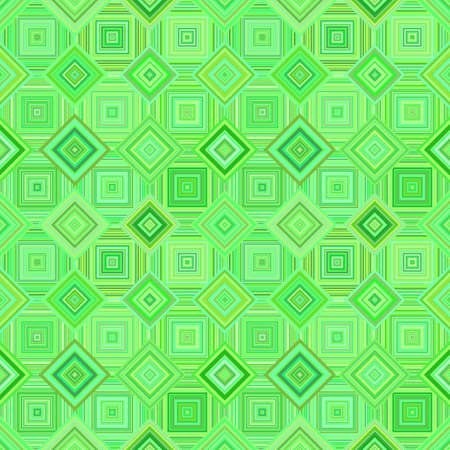 Green abstract diagonal square mosaic pattern background - vector wall design