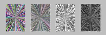 Abstract hypnotic striped star burst pattern poster background - vector page template graphics