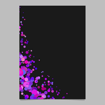 Curved blank abstract sprinkled confetti dot poster background - vector page template graphic