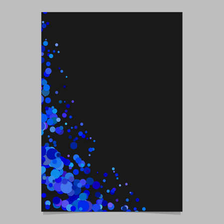 Abstract blank curved confetti brochure background template with sprinkled circles - vector graphic