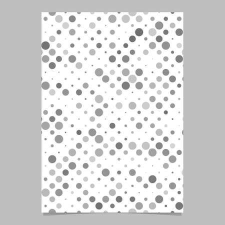 Abstract circle pattern brochure template - vector page background graphic from circles