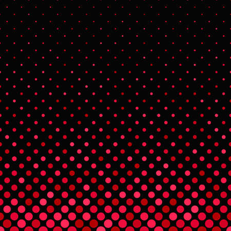 Red abstract geometric circle pattern background - vector graphic design